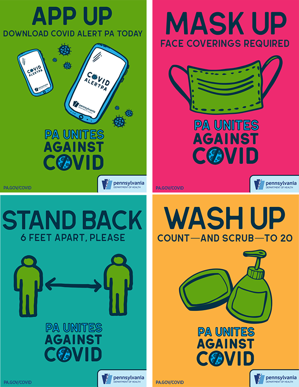 All PA Unites Against COVID 19 Posters (8.5×11)