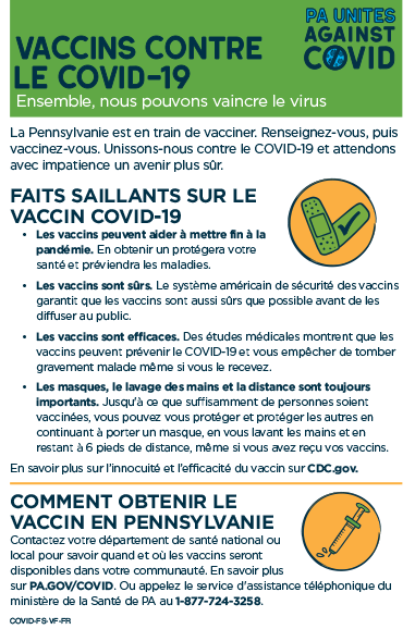 COVID-19 Vaccines Half-Sheet (5.5 x 8.5) – French
