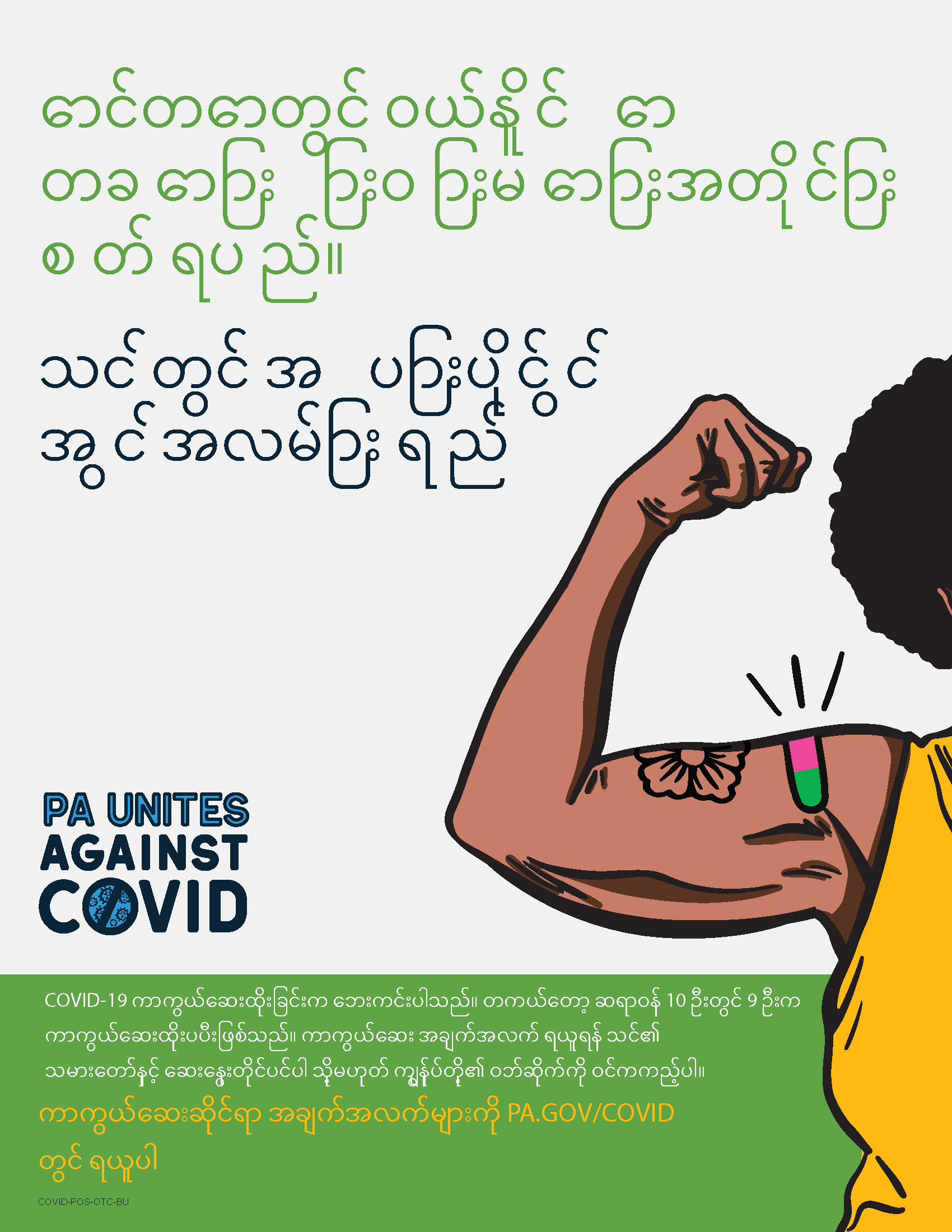 As Safe as Many Over the Counter Meds Poster – Burmese