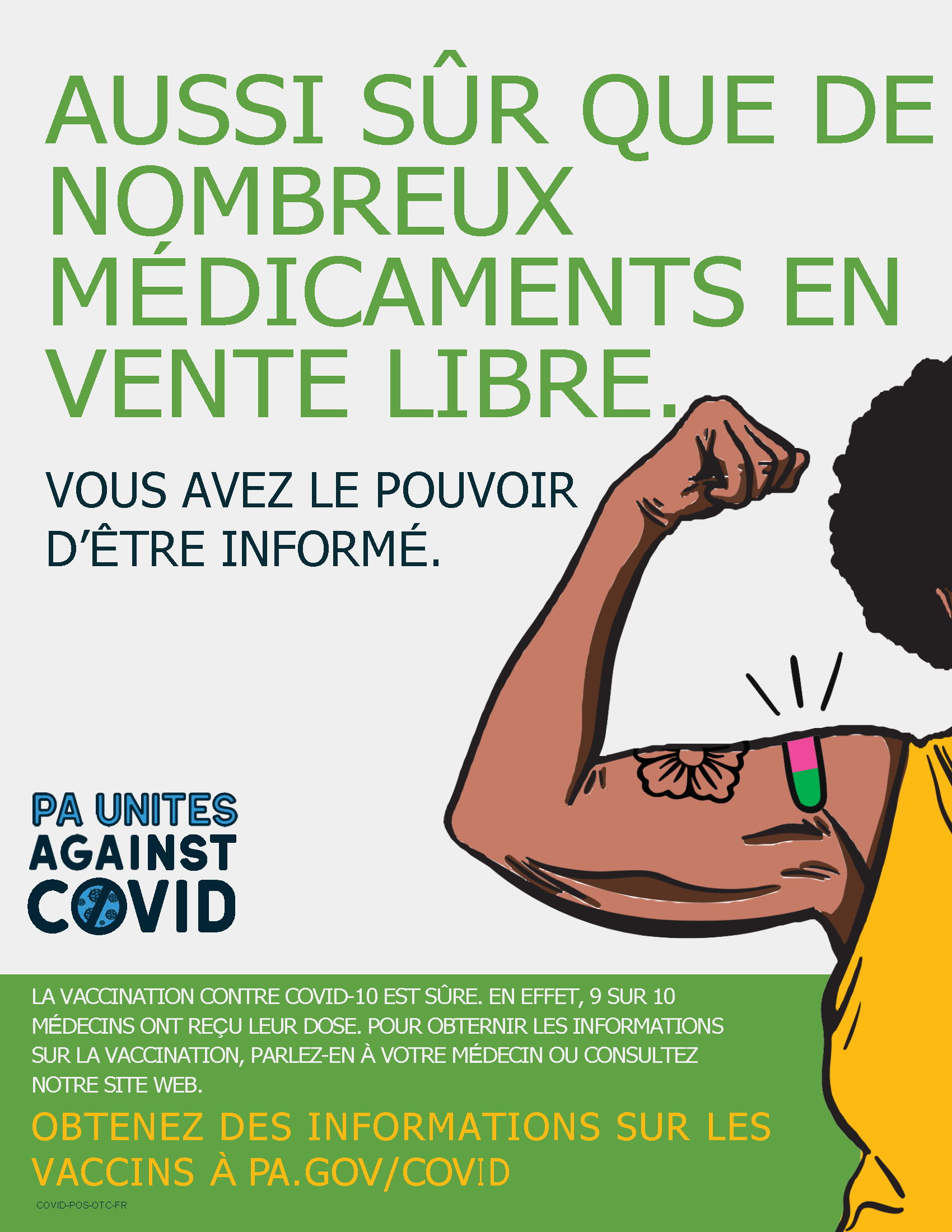 As Safe as Many Over the Counter Meds Poster – French