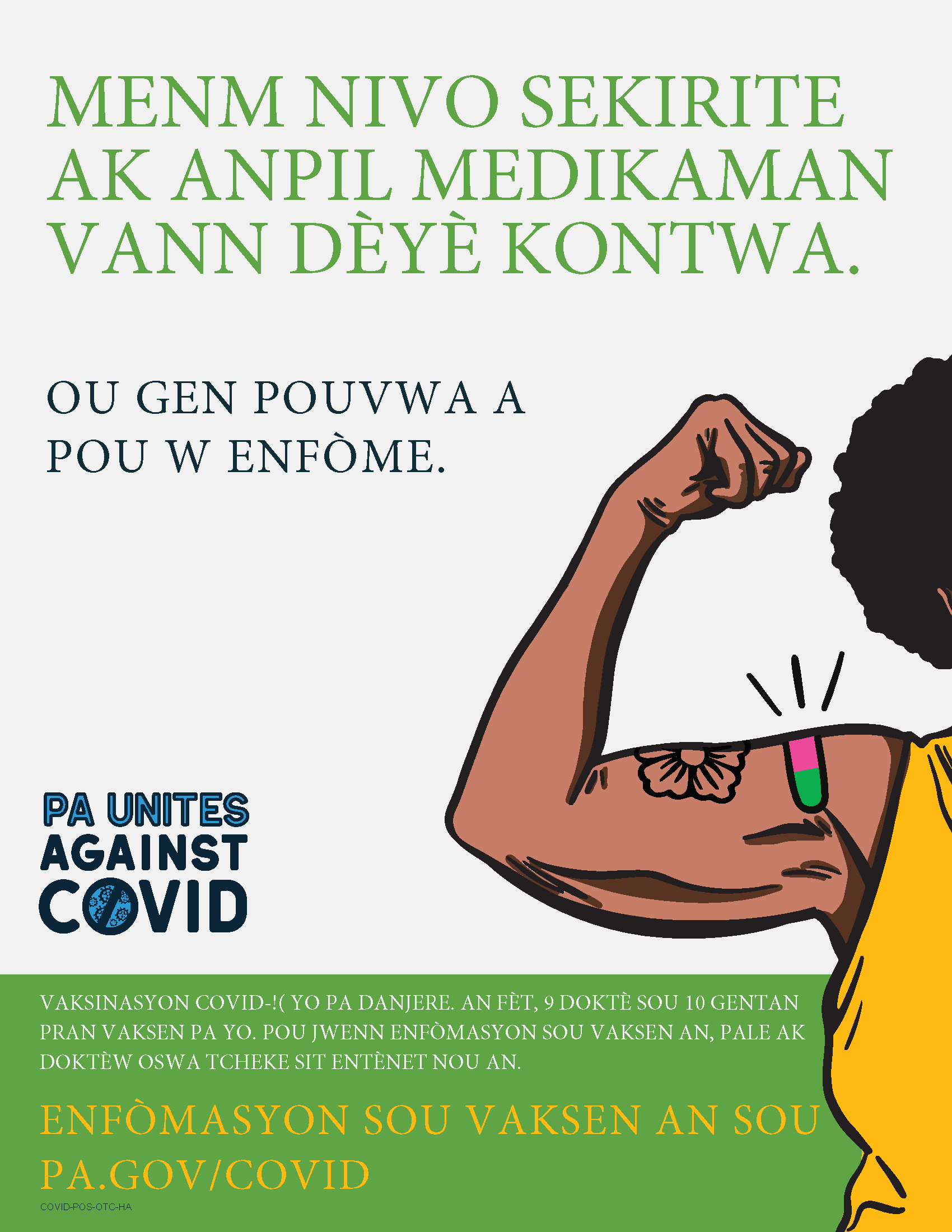 As Safe as Many Over the Counter Meds Poster – Haitian Creole