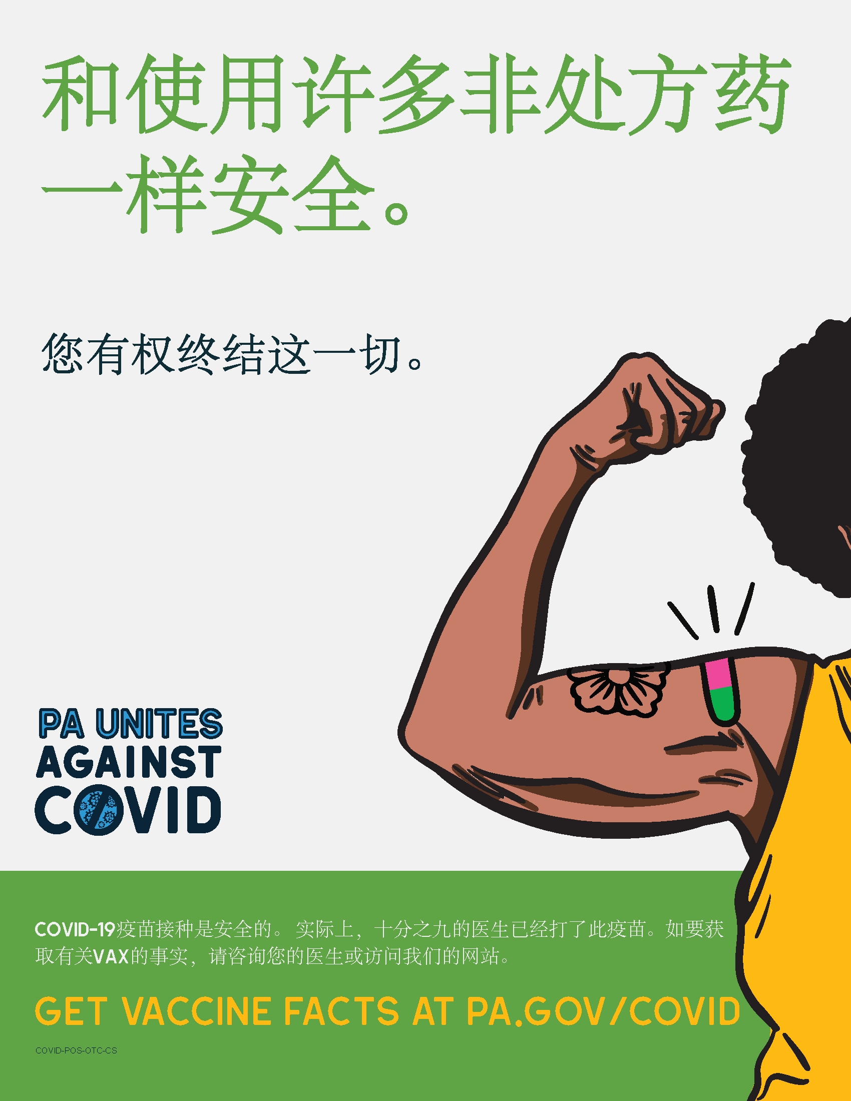 As Safe as Many Over the Counter Meds Poster – Chinese Simplified