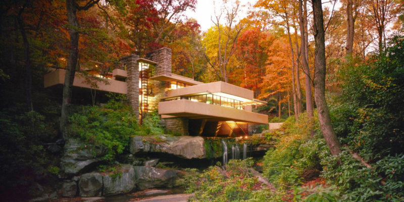 Fallingwater at Twilight