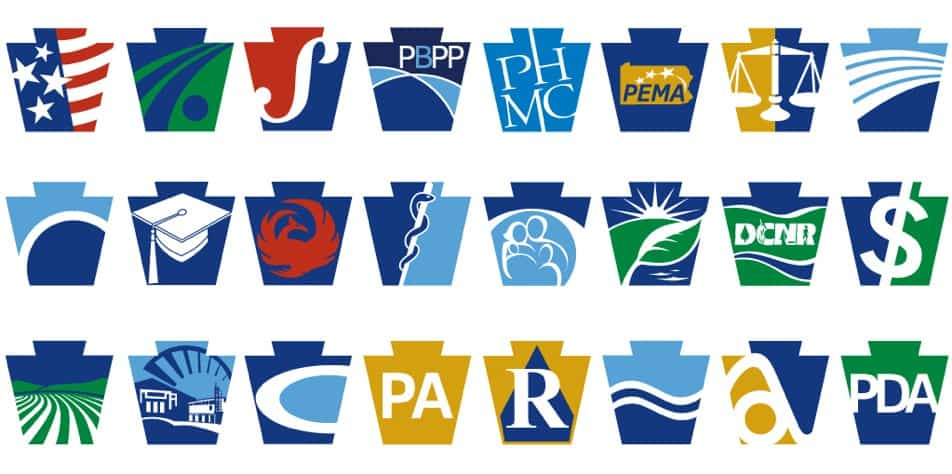 Image of a collection of state agency logos.