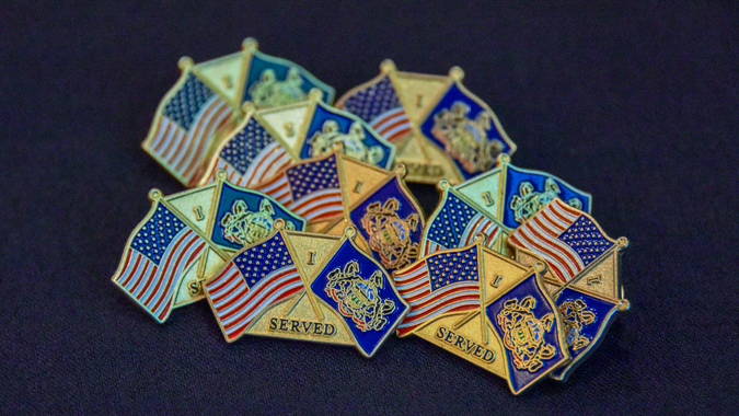 "Employees get pins that say ""I served"" with a commonwealth and PA flag."