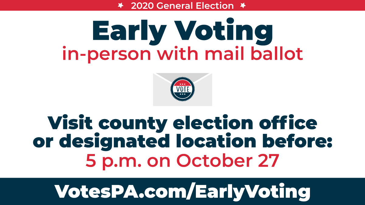 Graphic outlining the deadline to vote early in-person